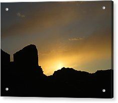 Ancient Walls Against The Sunset Acrylic Print by Feva  Fotos