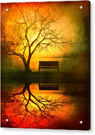 And I Will Wait For You Until The Sun Goes Down Acrylic Print by Tara Turner