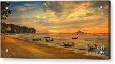 Andaman Sunset Acrylic Print by Adrian Evans