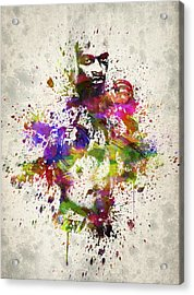 Anderson Silva Acrylic Print by Aged Pixel