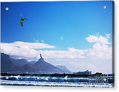 Andries - Redbull King Of The Air Cape Town  Acrylic Print by Charl Bruwer
