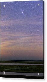 Andromeda Galaxy Over The Parana River Acrylic Print by Luis Argerich