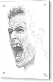 Andy Murray Sketch Acrylic Print by Conor OBrien