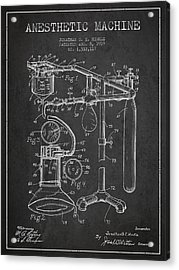 Anesthetic Machine Patent From 1919 - Dark Acrylic Print by Aged Pixel