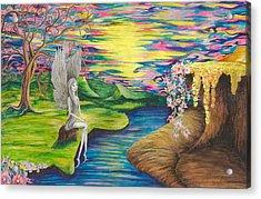 Angel Fairy Acrylic Print by Yolanda Raker