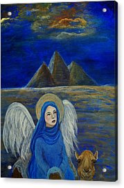Angel From Eygpt Called Lapis Lazueli Acrylic Print by The Art With A Heart By Charlotte Phillips