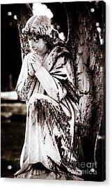 Angel In Prayer Acrylic Print by Sonja Quintero