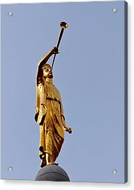 Angel Moroni Acrylic Print by Rona Black