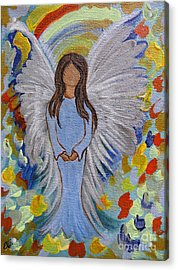 Angel Of Devotion Acrylic Print by Ella Kaye Dickey