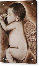 Angel Of My Tears Acrylic Print by Sheena Pike