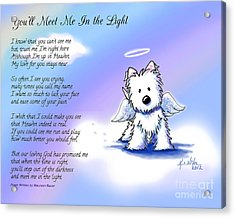 Angel Westie With Poem Acrylic Print by Kim Niles