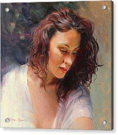 Angelic Acrylic Print by Anna Rose Bain