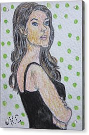 Angelina Jolie Acrylic Print by Kathy Marrs Chandler