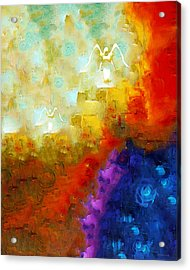 Angels Among Us - Emotive Spiritual Healing Art Acrylic Print by Sharon Cummings