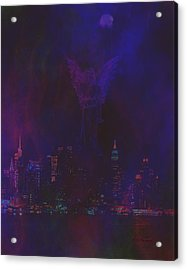 Angels Watch Over Us Acrylic Print by Diane Parnell