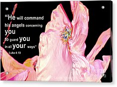 Angels Will Guard You Acrylic Print by Artist and Photographer Laura Wrede