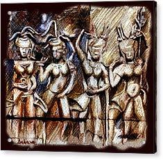 Angkor Wat - Apsara Acrylic Print by Daliana Pacuraru
