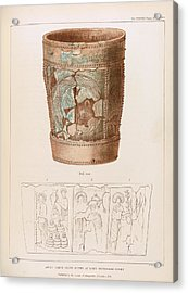 Anglo-saxon Stoup Acrylic Print by Middle Temple Library