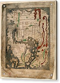 Anglo-saxon World Map Acrylic Print by British Library