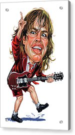 Angus Young Acrylic Print by Art