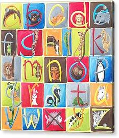 Animal Alphabet Acrylic Print by Tracie Davis