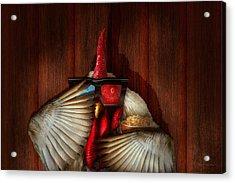 Animal - Chicken - Movie Night  Acrylic Print by Mike Savad