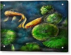 Animal - Fish - The Shy Fish  Acrylic Print by Mike Savad