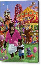 Animal Fun Fair Acrylic Print by Martin Davey