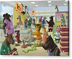 Animal Supermarket Acrylic Print by Martin Davey