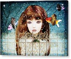 Aniolina Felicslawa Acrylic Print by Barbara Orenya