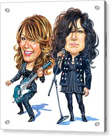 Ann And Nancy Wilson Of Heart Acrylic Print by Art