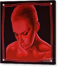 Annie Lennox Acrylic Print by Paul Meijering