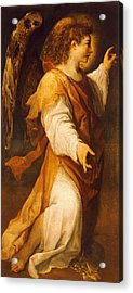 Announcing Angel Acrylic Print by Annibale Carracci