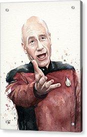 Annoyed Picard Meme Acrylic Print by Olga Shvartsur