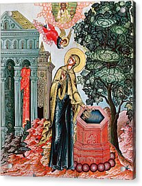 Annunciation At The Fountain Acrylic Print by Russian School