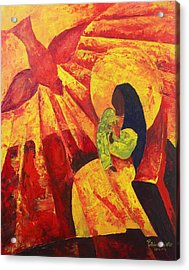 Annunciation Acrylic Print by Patricia Brintle