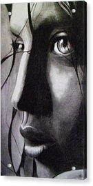 Anonima Acrylic Print by Macarena Taboada