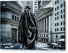 Another Cold Cold Day On Wall Street Acrylic Print by Chris Lord