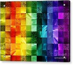 Another Kind Of Rainbow Acrylic Print by Irina Sztukowski