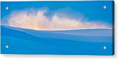 Antarctic Mist - Antarctica Sunset Photograph Acrylic Print by Duane Miller