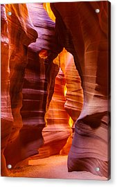 Antelope Canyon Acrylic Print by Susan  Schmitz