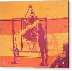 Antique Bleriot Airplane  Acrylic Print by John Samsen