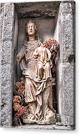 Antique Blessed Virgin Statue Acrylic Print by Olivier Le Queinec