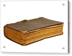 Antique Book Acrylic Print by Olivier Le Queinec