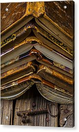 Antique Books Acrylic Print by Garry Gay