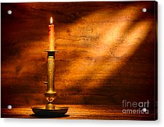 Antique Candlestick Acrylic Print by Olivier Le Queinec