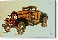 Antique Car Acrylic Print by Christy Saunders Church