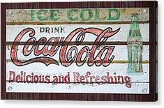 Antique Coca Cola Sign  Acrylic Print by Chris Flees
