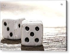 Antique Dice Acrylic Print by Olivier Le Queinec
