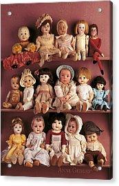 Antique Dolls Acrylic Print by Anne Geddes